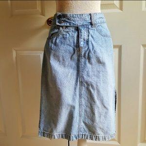 Vintage Denim 0 Denim Pencil Skirt Lightwash